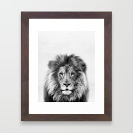 Lion, Animal, Minimal, Trendy decor, Nursery, Interior, Wall art, Photo Framed Art Print