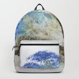 A Misty Island with Waterfalls Backpack