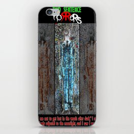 The Thin Man story by Two Sentence Horrors iPhone Skin