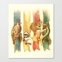classic Canvas Prints featuring House Brawl by Alice X. Zhang