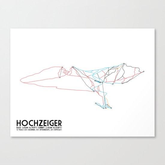 HochZeiger, Tyrol, Austria - European Edition - Minimalist Trail Art Canvas Print