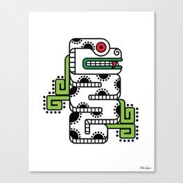 Koru-Fern Serpent Canvas Print