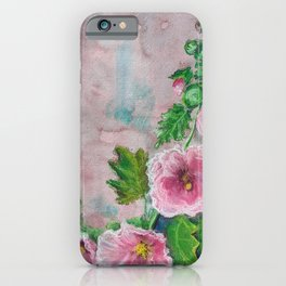 Delicate Frilly Hollyhocks iPhone Case