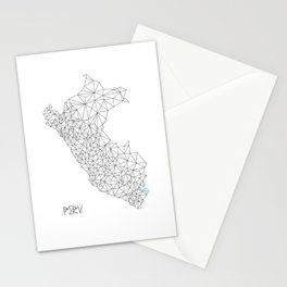 Mapa Peru Stationery Cards