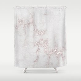 Marble Pattern Silver Rosé Shower Curtain