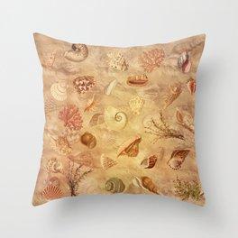Sea shells wonder 1 Throw Pillow