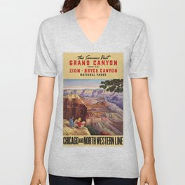 Vintage poster - Grand Canyon Unisex V-Neck
