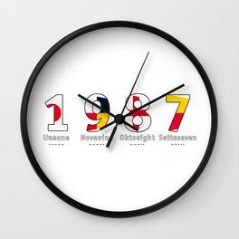 1987 - NAVY - My Year of Birth Wall Clock