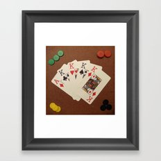 Poker de Reyes Framed Art Print
