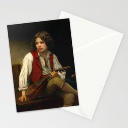 "William-Adolphe Bouguereau ""Italien à la mandoline (Italian with mandolin)"" Stationery Cards"