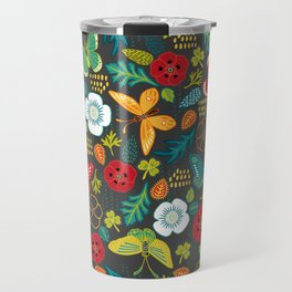 The Butterfly Garden - Charcoal Travel Mug