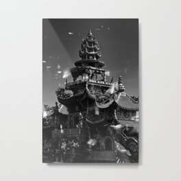 Linh Phuoc pagoda at Da Lat City, Lam Dong province, Vietnam. Metal Print