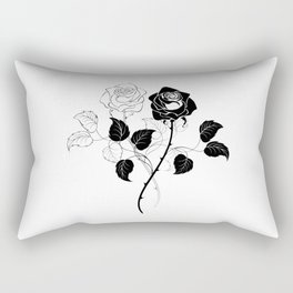 Two Roses Rectangular Pillow