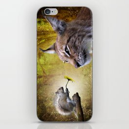 Canadian Lnx and Squirrel iPhone Skin
