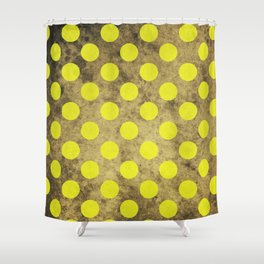 Green Dots Pattern Shower Curtain