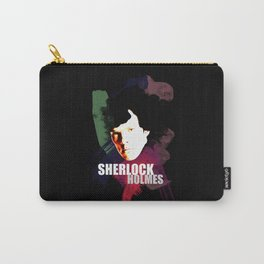 Sherlock Painted Carry-All Pouch