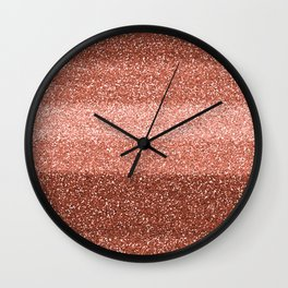 Rose Gold Sparkle Wall Clock