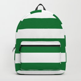 La Salle green - solid color - white stripes pattern Backpack