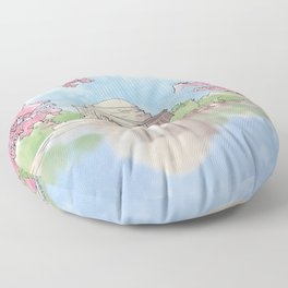 Cherry Blossom - Jefferson Memorial Floor Pillow