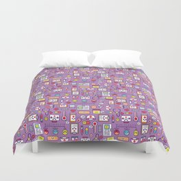 Proud To Be a Nurse Pattern / Purple Duvet Cover