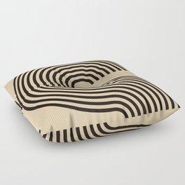 70s Style Retro Mid Century Modern Art Abstract Minimalist Geometrical Neutral Earthy Tones  Floor Pillow