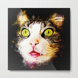 norwegian forest cat omg splatter watercolor Metal Print