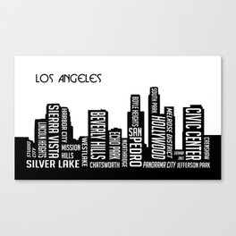 Skyline Los Angeles Canvas Print