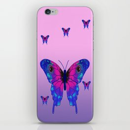 Butterfly Phone Pouch Design Purple iPhone Skin
