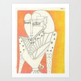 Woman_2 Art Print