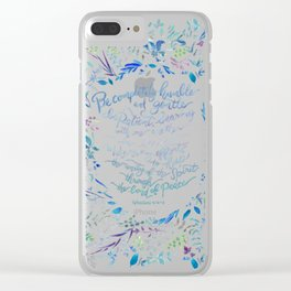 Be Humble & Gentle - Ephesians 4:2-3 Clear iPhone Case