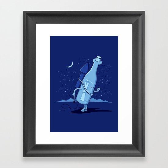 Sending a dream into the universe Framed Art Print