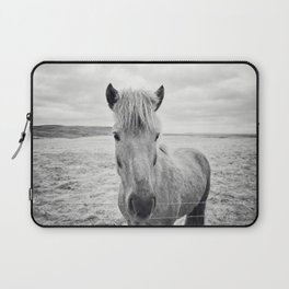 Horse Print | Black and White Rustic Horse Art Laptop Sleeve