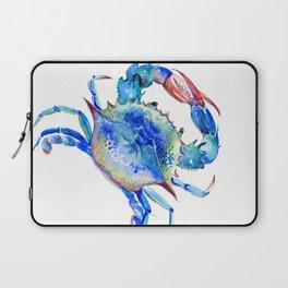 Blue Crab, crab restaurant seafood design art Laptop Sleeve