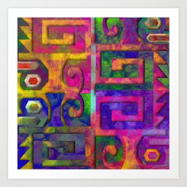 Wari colorful II Art Print
