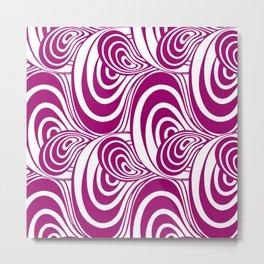 """Koloman (Kolo) Moser """"Textile pattern (Swirls)"""" (3) Metal Print"""