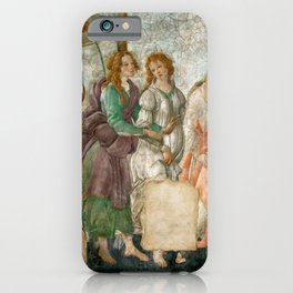 """Sandro Botticelli """"Venus and the Three Graces Presenting Gifts to a Young Woman"""" iPhone Case"""