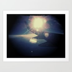 Right past the wing Art Print