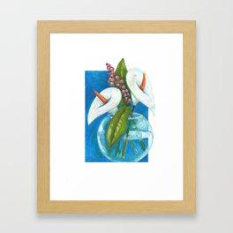 Dos calas Framed Art Print