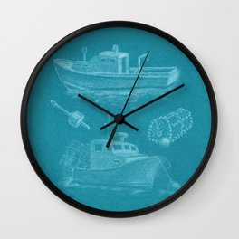 Lobstering Wall Clock