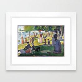 A Sunday on La Grande Jatte by Georges Seurat, 1884 Framed Art Print