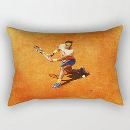 Rafael Nadal Sliced Backhand Rectangular Pillow