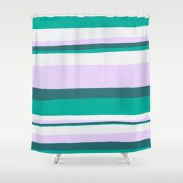 Hermosa, sunset stripes Shower Curtain