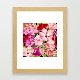 Tropical Power Flowers Framed Art Print