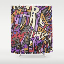 Feel This Real Forever (purple) Shower Curtain