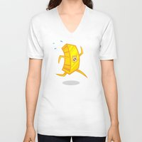 rush V-neck T-shirts featuring Gold Rush by Artistic Dyslexia
