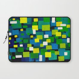 """Original Abstract Acrylic Painting by  """"City Lights"""" Colorful Geometric Square Pattern Gre Laptop Sleeve"""