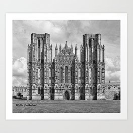 Wells Cathedral, UK Art Print
