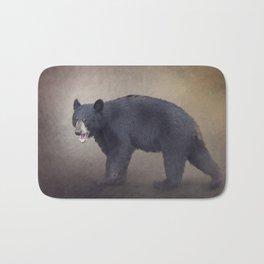 Young American Black Bear digital painting Bath Mat
