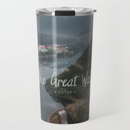 A different view of The Great Wall of China Travel Mug