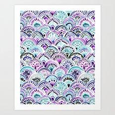 Mermaid Medallion Art Print